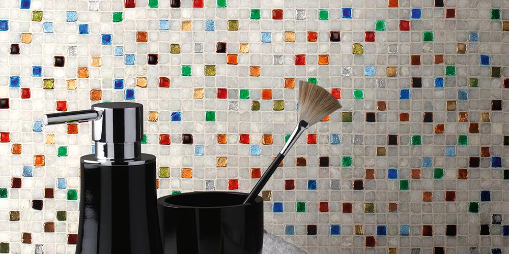 Mosaik Natursteinmosaik Glasmosaik Keramische Mosaike Fliesen - Mosaik fliesen 5x5cm