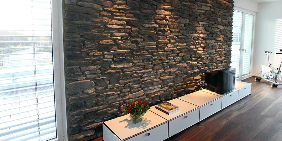 naturstein wandfliesen wohnzimmer – progo, Wohnzimmer